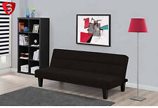Futon Sofa Bed Couch Indoor Dorm Living Room Guest Sleeper Modern Large Black