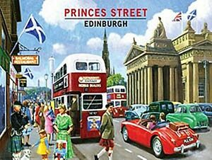 Advertising 1970-now Princes Street Edinburgh Large Steel Sign 400mm X 300mm og