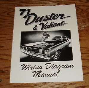 1971 Plymouth Duster & Valiant Wiring Diagram Manual 71 | eBay