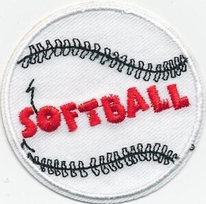 Details about girl boy cub SOFTBALL Game Fast Pitch Fun patches crests  badges SCOUTS GUIDES