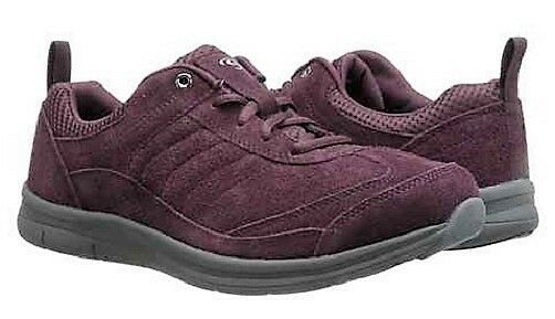 Easy Spirit Southcoast athletic chaussures GEL wine suede leather sz 10 NARROW New