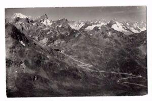 Switzerland-Hospice-du-Grand-St-Bernard-et-le-Mont-Blanc-Vintage-Postcard