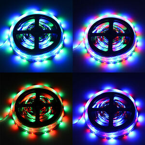 RGB 5M 3528 Non-Waterproof 300 LED Strip Light + Remote Control + Power Supply