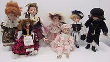 Leonardo Collection Porcelain Dolls Knightsbridge Dominuque JOB LOT x7 - FIS S21