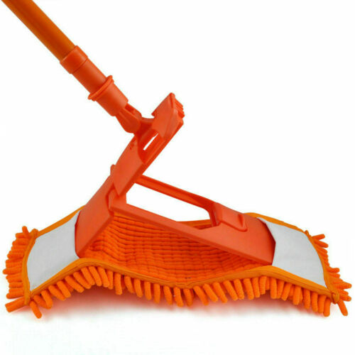 HIGH QUALITY EXTENDABLE MICROFIBRE MOP CLEANER SWEEPER TILE FLOOR WET DRY UK