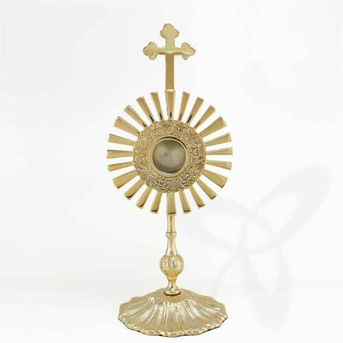 MASSIVE Reliquiar Reliquie MONSTRANZ Hausaltar Ostensorio mit LUNA detailgetreu