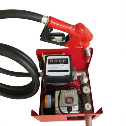 Dieselpumpe mit Zählwerk Heizölpumpe Diesel Selbstansaugend Zapfpistole 60L//min