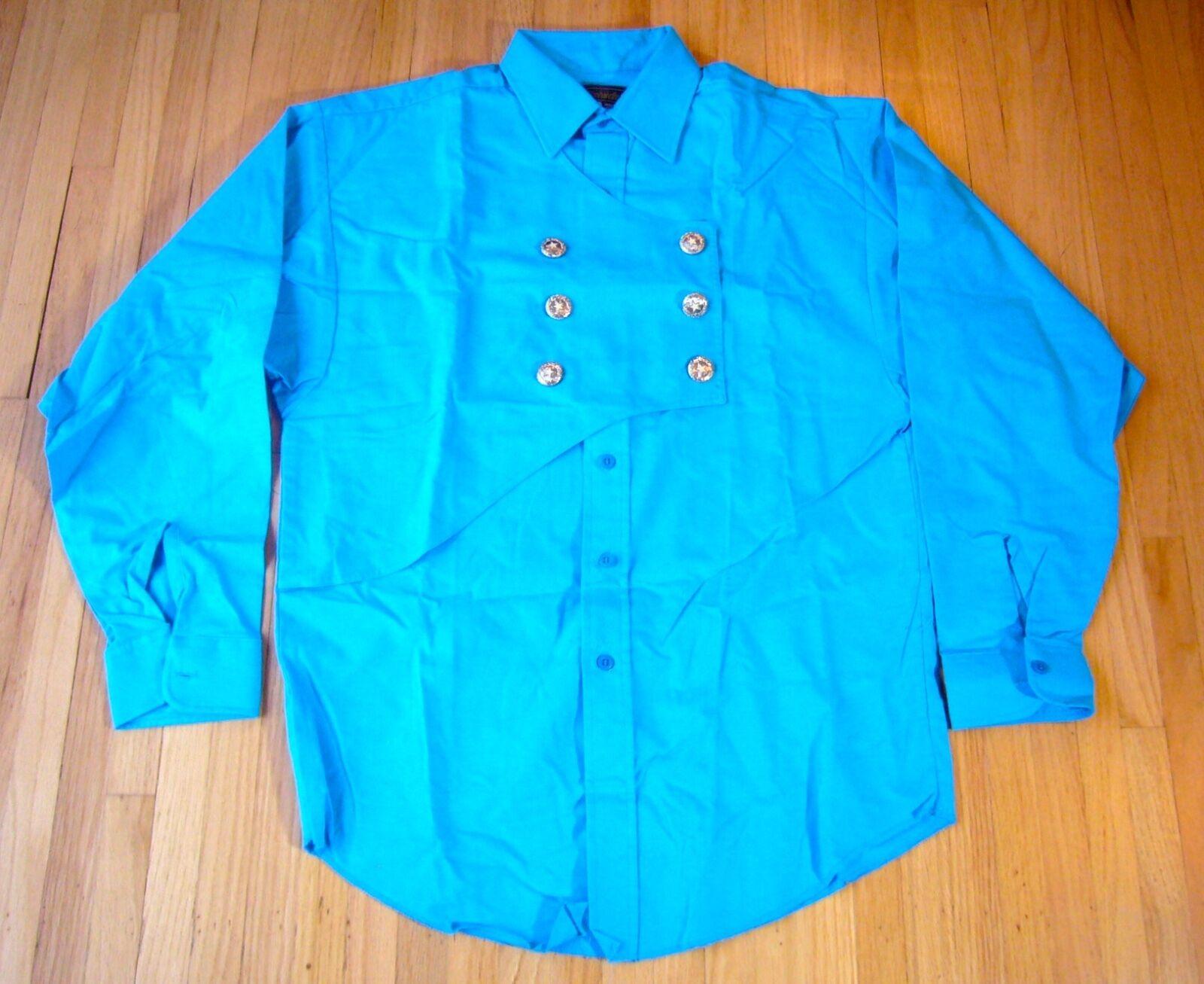 Panhandle Slim Long Sleeve Bib Western Shirt Men's MED 15-15.5