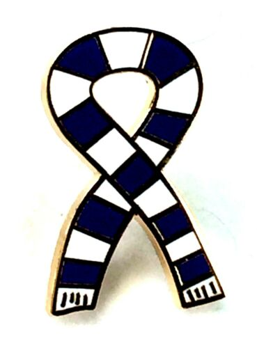 Blue and White Bar Scarf Gold Plated Quality enamel lapel pin badge