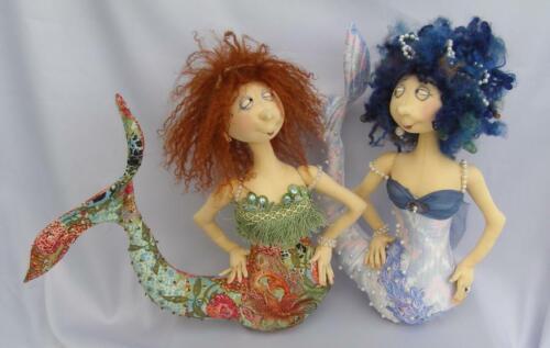 """Cloth Art Doll Pattern /""""Fennella the Mermaid/"""" By Jill Maas"""