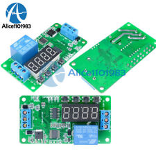 Dc 5v 12v Multifunction Self Lock Relay Plc Cycle Timer Module Delay Time Switch
