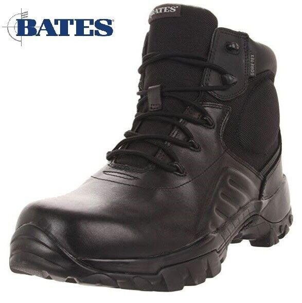 Bates Nero 6 Gore-Delta Tex Uomo Nero Bates Pelle ICS impermeabile non Stivaletti di sicurezza dd74c9
