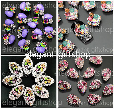 DELUXE 3D SUPERIOR Alloy Jewelry Gems Nail Art Tips Deco Glitter Rhinestones