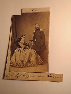 Wilhelm Von Baden Als Soldat In Uniform & Frau Im Reifrock / Foto 1863 NüTzlich FüR äTherisches Medulla