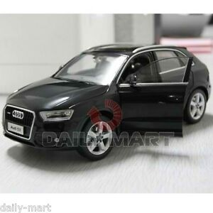 Image is loading 1-18-Scale-Audi-Q3-Black-DieCast-Toy-