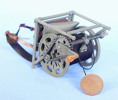 WW2 1:6 German Figure Infantry Radio Wire Cable Layer Backpack Cable_Layer