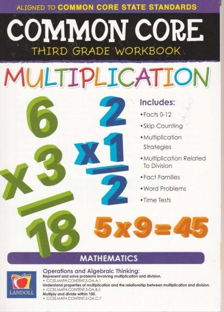 Common Core 1st And 2nd Grade Mathematics Workbook Multiplication