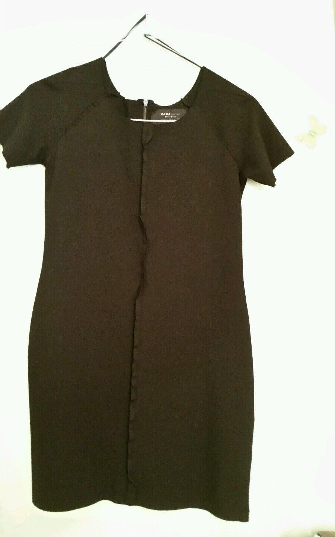 Zara Special  Edition schwarz  Mini Dress Medium inside out style sz M GC WoW