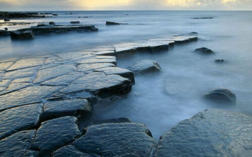 3D Foggy Sea Coast Stones 29 Wall Paper Wall Print Decal Wall AJ Wall Paper