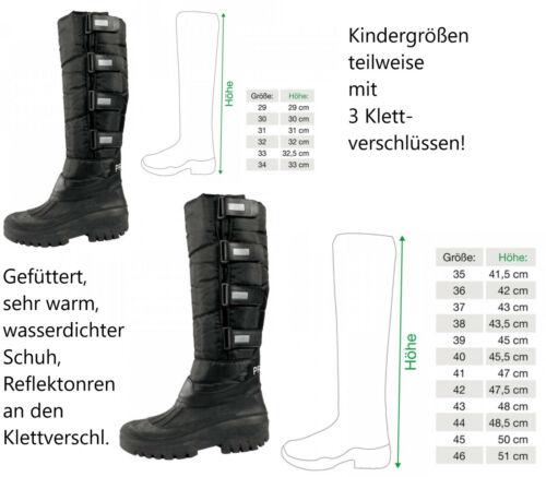 Gr 29-34 Gefütterte Kinder Winterstiefel Thermostiefel Thermo Winter Stiefel