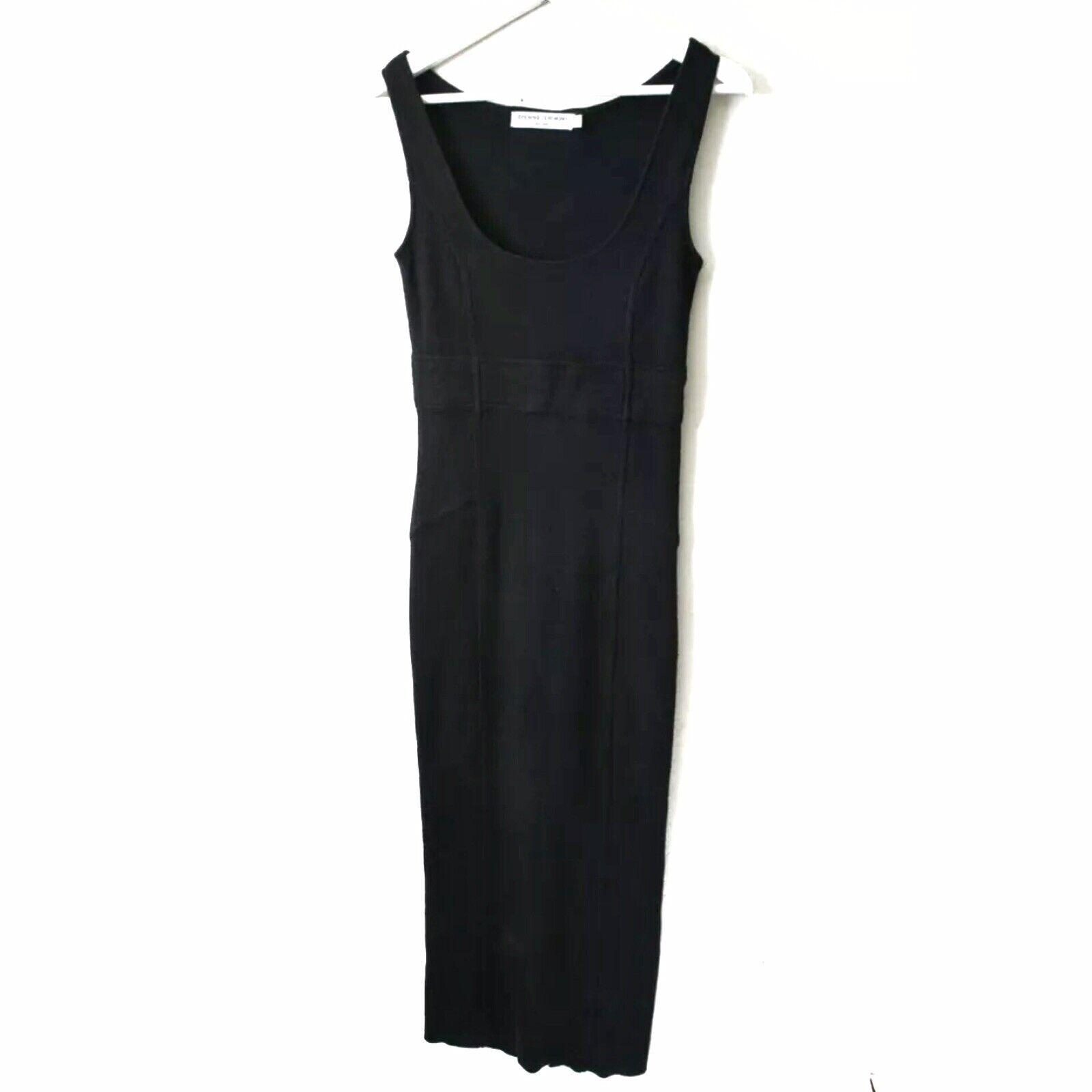 OPENING CEREMONY sz S schwarz Sleeveless Sweater Body Con Long Maxi Dress flaw