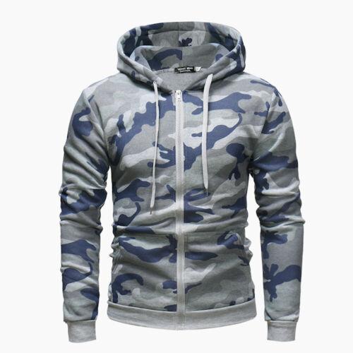Jacket Hoodie Men/'s Coat Teal Hooded  Sweatshirt Sweater Winter Fleece Zipper