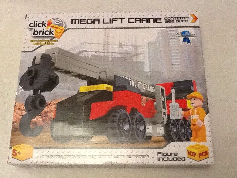 Click Brick Mega Lift Crane Set. 107 Pieces. Age Age Age 5+ 054b09