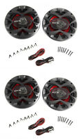 """4) New BOSS CH6520 6.5"""" 2-Way 500W Car Coaxial Audio Speakers Stereo Red 6 1/2"""""""