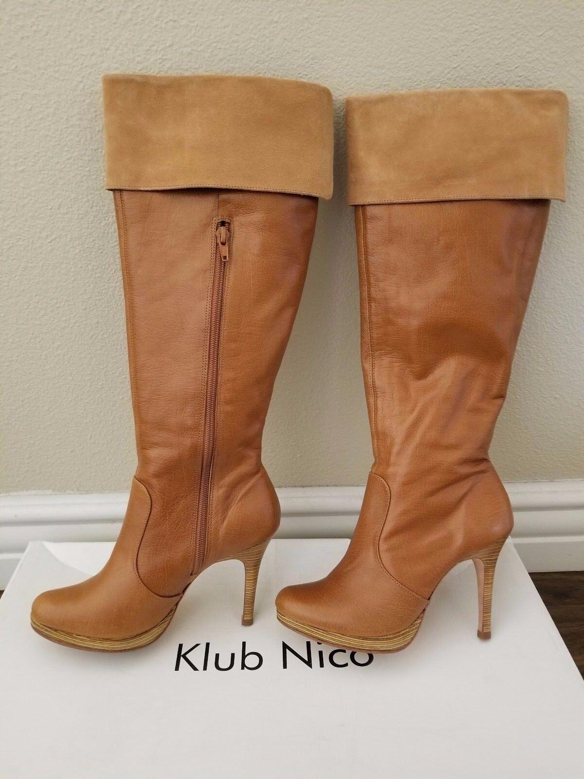 Color bronceado ligeramente usado Klub Nico Nico Nico para mujer hasta la rodilla alta botas blayke 6 M  entrega rápida