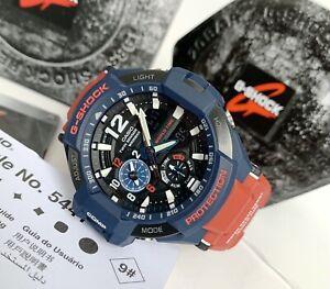 Casio G-Shock * G-Aviation GravityMaster GA1100-2A Red & Blue Watch for Men