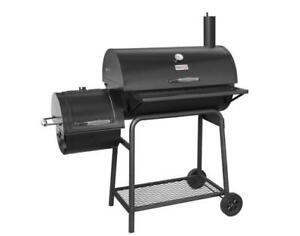 Royal Gourmet BBQ Charcoal Grill Barrel Offset Smoker Steel Black CC1830F