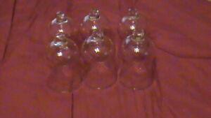Vtg-Peg-BELL-SHAPE-GLASS-VOTIVE-CUP-SWIRLED-4-034-tall-2-5-Dia-GR-1