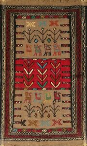 Geometric-Kilim-Hand-Woven-Tribal-Oriental-Area-Rug-Home-Decor-Wool-Carpet-4-039-x6-039