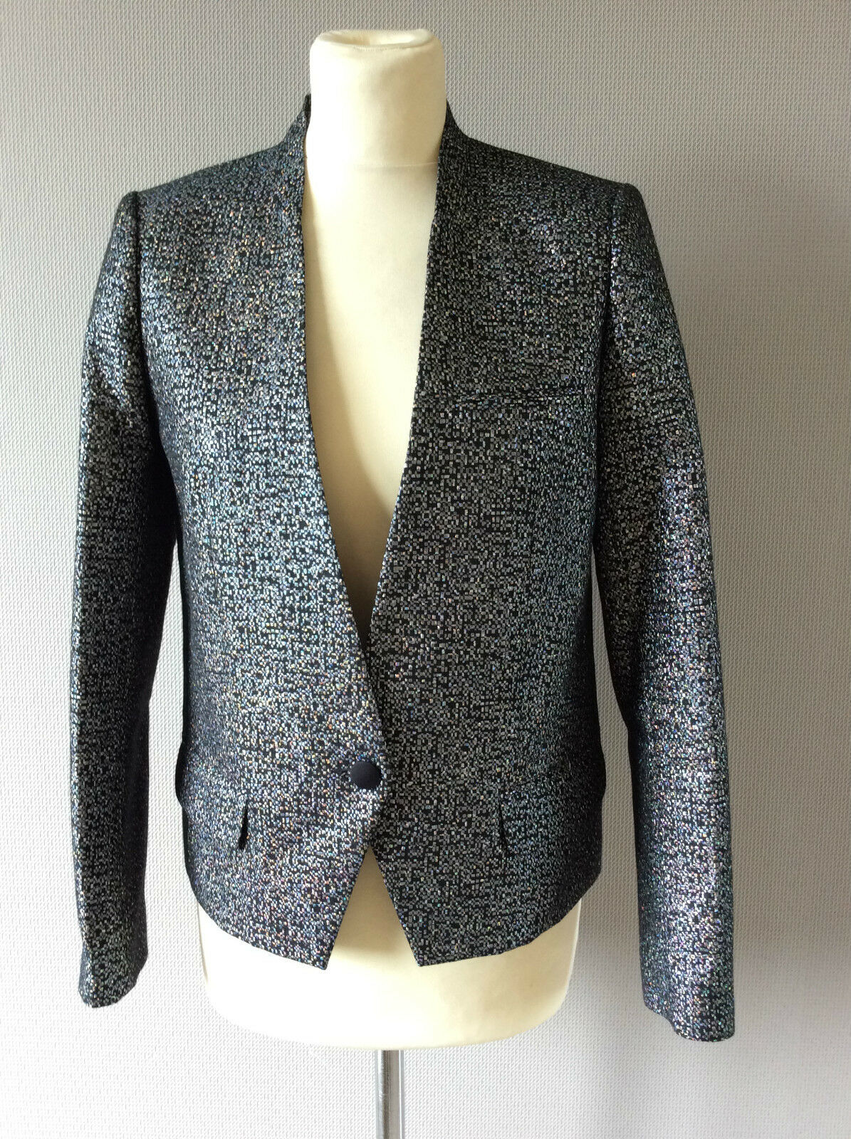 535  Loro Shirt Piana Navy Long Sleeve Cashmere/Cotton Shirt Loro Size Large Made in Italy beca89