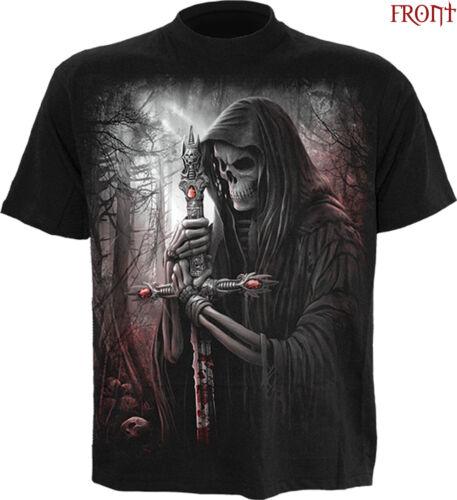 SPIRAL DIRECT SOUL SEARCHER T-Shirt,Reaper//Skull//Biker//Horror//Plus Size//Goth//Top