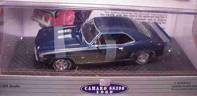 1969 Camaro SS396 Dusk blu 1 24 classeic Metal lavoros 10115