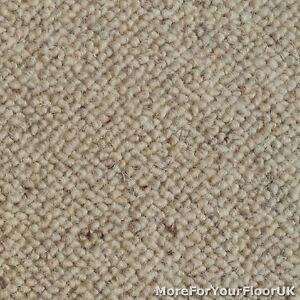 Image is loading 100-Wool-Berber-Carpet-Beige-Grey-Quality-Loop