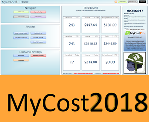 Details About Mycost2018 Ebay Spreadsheet Track Profit Sales Fees Excel Bookkeeping App