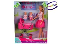 Steffi Love Sunshine Twins Jumeaux Doll & accessories Baby Carriage 29cm Barbie