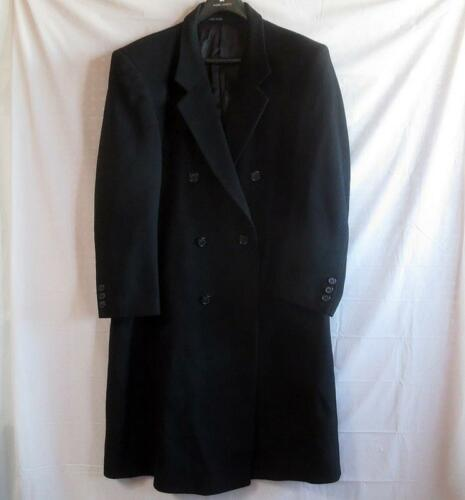 lange zwarte double mooi Andre breasted jas 44r handgemaakt Heren Lanzino DYWeEbIH29