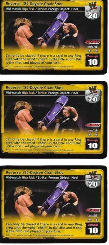 3X Reverse 180-Degree Chair Shot *FREE SHIPPING* RARE Multi WWE RAW DEAL