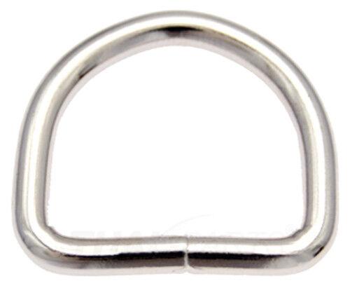 10St. D-Ringe 16mm x12x2,6 Stahl vern. Halbrund Ring Halbrunde D Ringe D-Ring