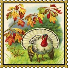 30 Custom Thanksgiving Stamp Art Personalized Address Labels