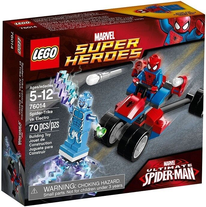 Lego Marvel Super Heroes 76014 Spiderman SPIDER-TRIKE VS ELECTRO Minifigs NISB