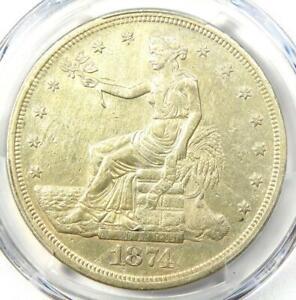 1874-CC Trade Silver Dollar T$1 - PCGS XF Details (EF) - Rare Carson City Coin!