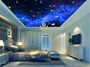 3D blue Galaxiester 7 Fototapeten Wandbild Fototapete BildTapete Familie DE Kyra