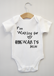 0606dac36ca I M WAITING FOR MY HOGWARTS LETTER Harry Potter Baby Grow Bodysuit ...