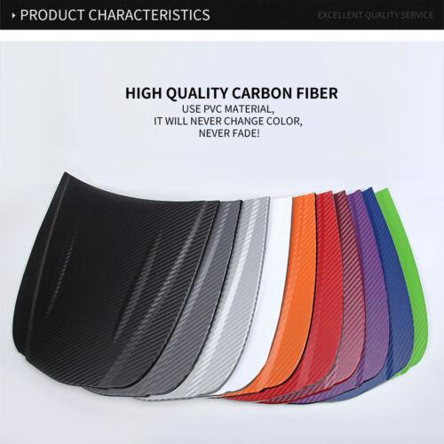 3D Carbon Fiber Vinyl Car Wrap Sheet Roll Film Sticker Decal 127x30cm
