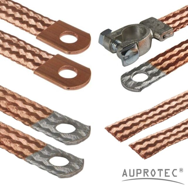 AUPROTEC Car Earth Strap Cable Battery Lead Flexible Tinned Copper Braid