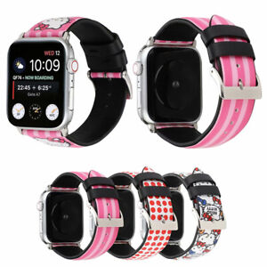 Cute Hello Kitty Leather Sport Band For Apple Watch Series 5 4 3 2 1 Wrist Strap Ebay